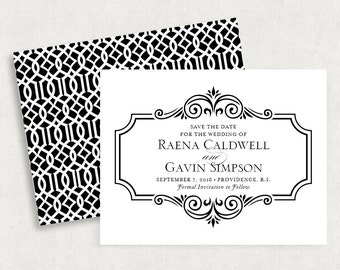 Printable Save the Date, Printed Save the Dates, Postcard, Save the Date Magnet, Save the Date Note Cards, PDF, Calligraphy, Cordially, diy