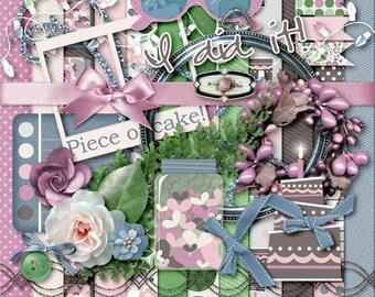 Piece of Cake Digital Scrapbook Kit & Clip Art