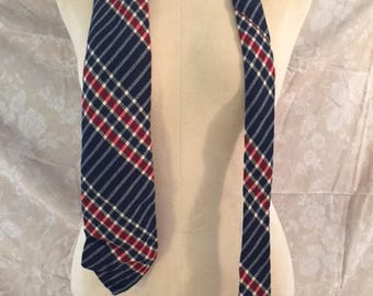 Vintage Navy and Red Tie