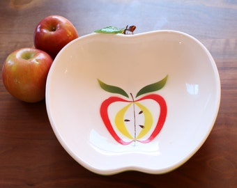 Fred Roberts Apple Serving Bowl Mid Century Fruit Bowl