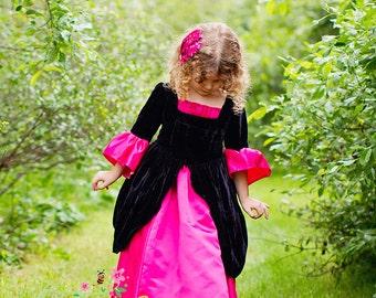 Girls Princess Dress, Girls Velvet Dress, Girls Princess Costume, Halloween costume, made to order