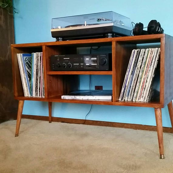 Record Player Stand Mid-Century Modern As Entertainment Center