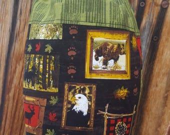 Wildlife Plastic Shopping Bag Holder, Deer Grocery Bag Dispenser,  Shopping Bag Keeper, Lodge Decor. Wildlife Decor, Eagle Bag, Moose Decor