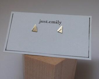 Tiny Triangle Studs | Small Triangle Earrings | Silver Earrings | Geometric Earrings