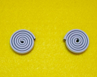 LANDLINES Upcycled Off-White Gray Statement Earrings