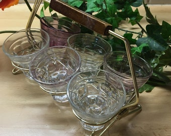 Classic shot Glass set, vintage glass from 1950s