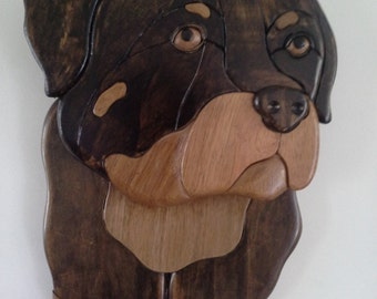 Australian Timber Intarsia Rottweiler