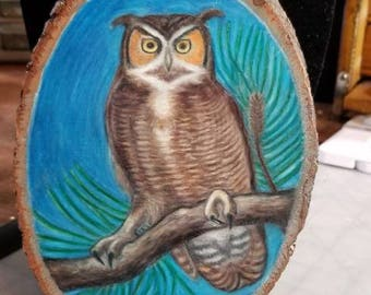 Great Horned Owl Wall Hanging Art