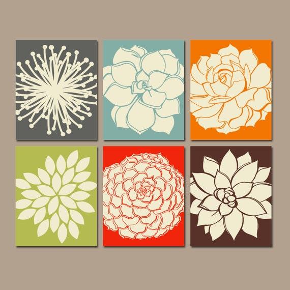 Kitchen Canvas Wall Decor: Flower Wall Art KITCHEN Wall Art CANVAS Or Prints Bathroom