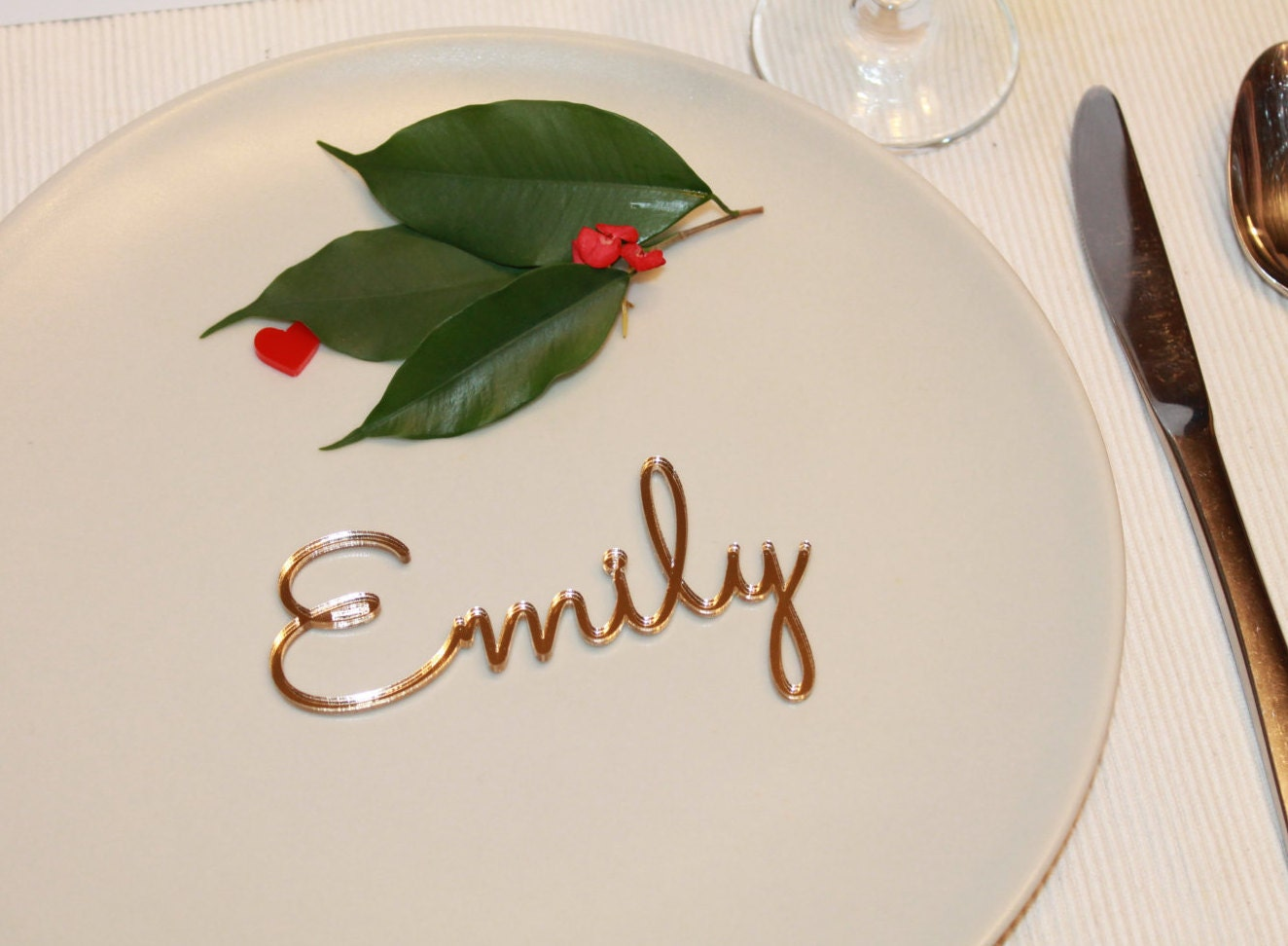 Wedding place cards Name place settings Laser cut names Wedding