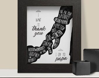 Father's Day Printable Gift,  Gift for Dad, Fathers Day Card, Fathers Day Print, Father Quote Wall Art