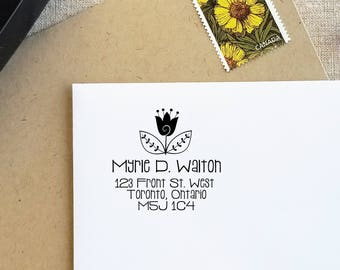 Self Inking Stamp | Return Address Stamp | Personalized Address Stamp | Self Inking Custom Address Stamp | Hostess Gift