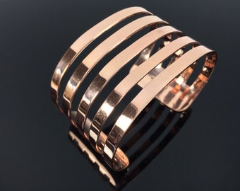 "Contemporary Copper Cuff Bracelet // 100% Copper // Size 7""-8"" Wrist"