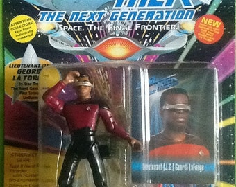 Star Trek The Next Generation Lieutenant Geordi La Forge Action Figure MINT