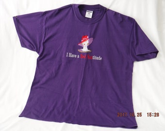 Red Hat Society purple XL t-shirt