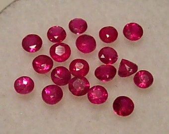 Wholesale, Natural Red Ruby, 2-3mm Round, VS loose stone, July Birthstone