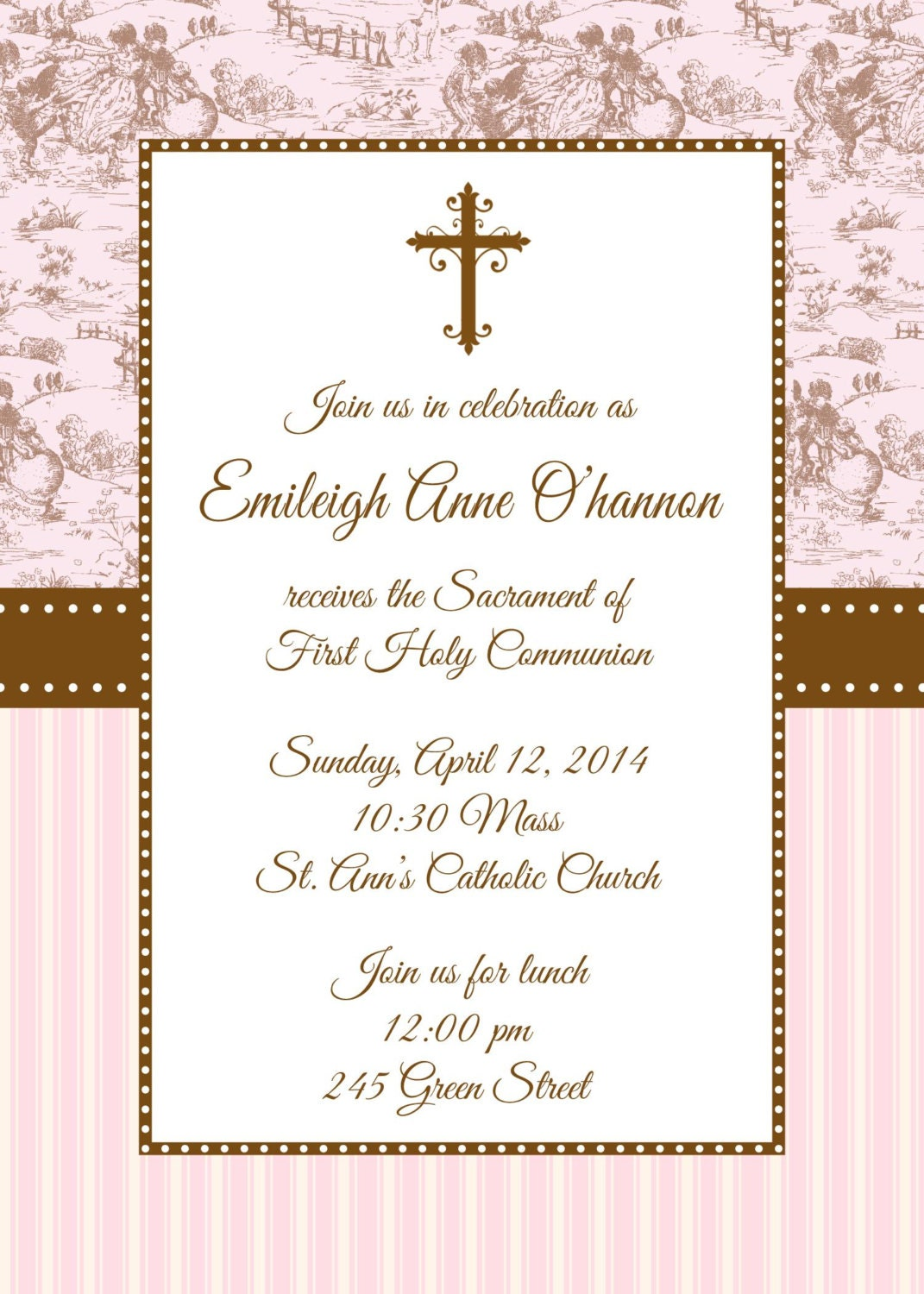 It's just a graphic of Persnickety Free Printable First Communion Invitations