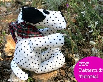 Dog Sewing Pattern, Stuffed Animal Pattern, Puppy, Dalmatian, Beagle, German Shepherd, Handmade Gift, Home Decor, Soft Toy, Children, Plush