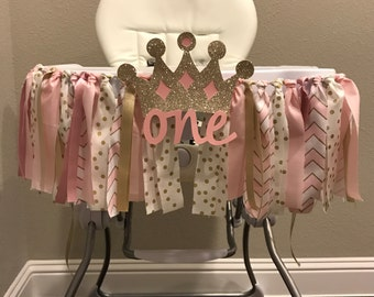 Pink and Gold High Chair Banner