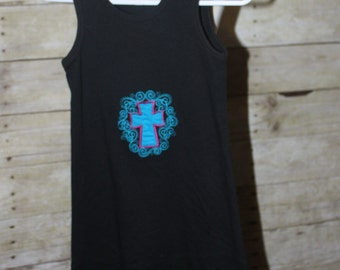 SAMPLE Cross Knit Black Dress 4T