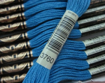Medium Wedgewood #3760, DMC Cotton Embroidery Floss - 8m Skeins - Skeins are Available Individually, in Larger Pkgs & in (12-skein) Boxes
