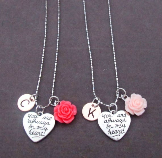 You Are Always in My Heart Necklace,Personalized Message of Love,Long Distantance Relationship,Best Friend,Daughter,Mom, Free Shipping USA