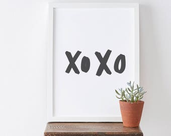 XOXO Print - Motivational Quote Print - Love Quote - Hand Lettered Print - Romantic Print - Love Print - Valentine's Gift