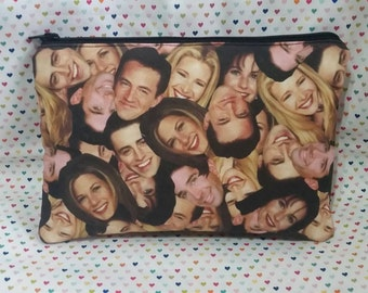 Friends inspired I'll be there for you  large padded zipper pouch