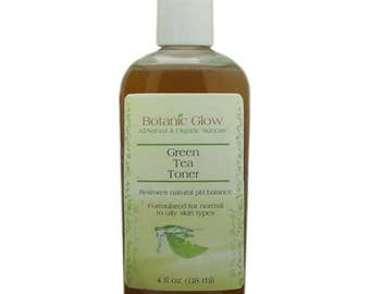 Green Tea Toner 4 oz for Acne and Oily Skin - All Natural Face Toner - Organic