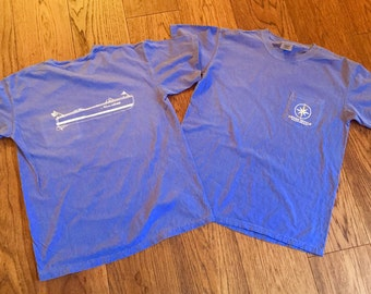 COMFORT COLORS Flo Blue Classic Boat short-sleeve Pocket - Never Settle Apparel