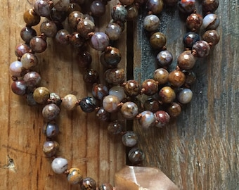 Pietersite + Sunstone Mini Mala | Rainbows | 108 Bead | 6 mm | Handknotted | Spiritual Junkies |Yoga + Meditation