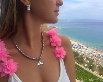 Whale Tail Necklace - Silver Necklace