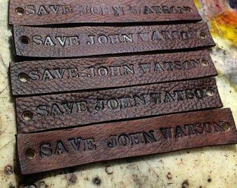 Save John Watson Fandom Inspired Tie Up Leather Fandom ID Bracelet