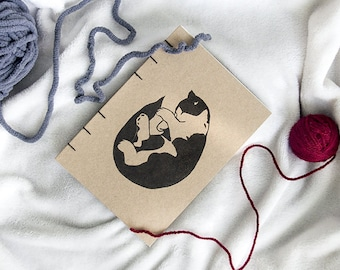 """Handmade notebook · """"Purrrr"""" design"""