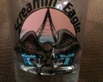 Six Flaggs Screaming Eagle shot glass