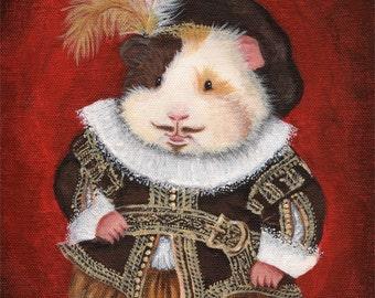William Haykespeare - Shakespeare Guinea Pig Portrait
