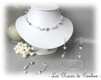 Wedding ivory and Navy Diana 3 piece set