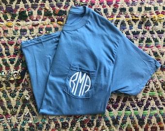 Pocket-Size Monogram Comfort Color Shirts