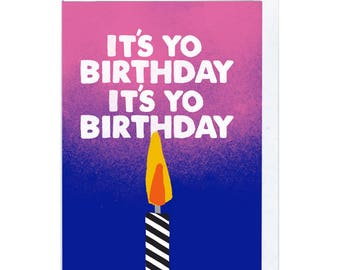 Yo Birthday Greeting Card
