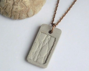Necklace Concrete Pendant-Kroko design-gift-