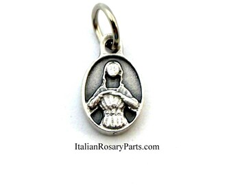 Saint Agatha Bracelet Medal Patron Saint of Breast Cancer Patients and Survivors | Italian Rosary Parts