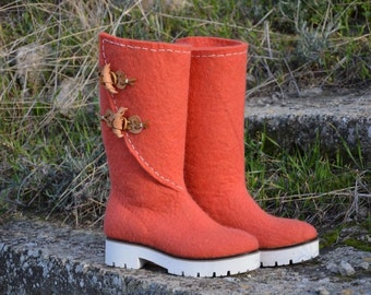 "Boots ""Coral"""