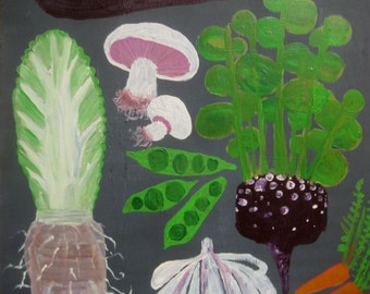 ORIGINAL VEGETABLE PAINTING for your kitchen