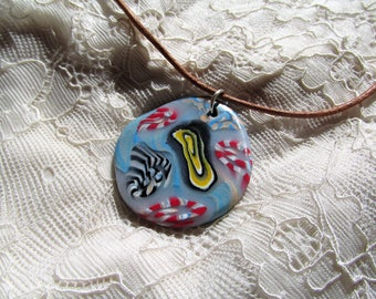 Unique handmade fimo choker necklace
