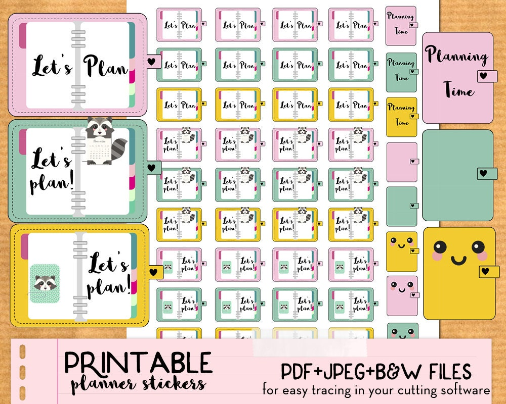 Calendar Time Zone Planner : Planning time plan planner stickers cute printable