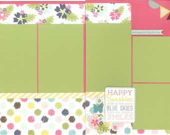 12x12 ENJOY LIFE scrapbook page kit, premade scrapbook kit, 12x12 premade scrapbook page, premade scrapbook pages, 12x12 scrapbook layout