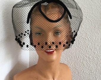 1950's - Black ceremony - Chic and feminine birdcage