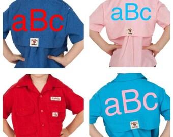 Monogrammed Toddler Fishing Shirts