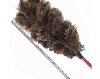 AAYU Brand premium Ostrich Feather Duster  | Natural duster for cleaning and Feather Moping | Ostrich Feather Duster wooden handle| 75 cm