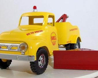 Vintage Tonka 1956 Custom Wrecker Truck with Plow